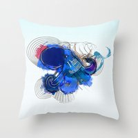 I hate the silence Throw Pillow