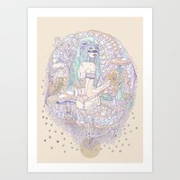 hues in moss Art Print