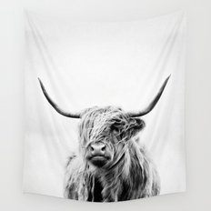 portrait of a highland cow - vertical orientation by request Wall Tapestry