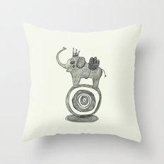 Elephant Fun Throw Pillow