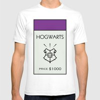Hogwarts Monopoly Locati… Mens Fitted Tee White SMALL