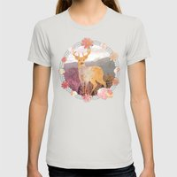 FLORA & FAUNA Womens Fitted Tee Silver SMALL