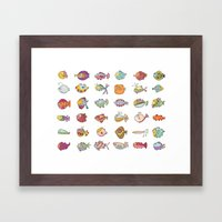 Lotta Fish Framed Art Print