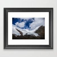 Glaciers Of Tibet Framed Art Print