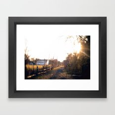 Trails in Brick, NJ Framed Art Print