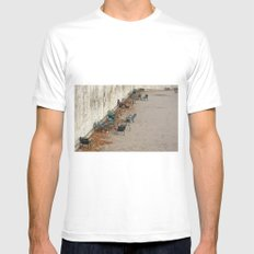 Chairs in the Jardin des Tuileries, Paris SMALL Mens Fitted Tee White