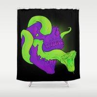 Neon Death Shower Curtain