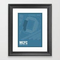 Maine Road - It's Where I Grew Up Framed Art Print