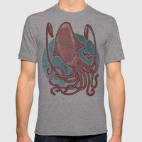 Squido Mens Fitted Tee Athletic Grey SMALL