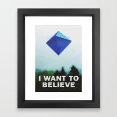 I WANT TO BELIEVE - 5TH ANGEL Framed Art Print