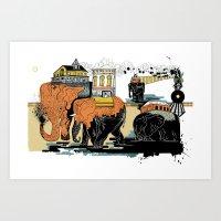 Oiliphants Art Print