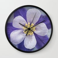 Columbine Wall Clock