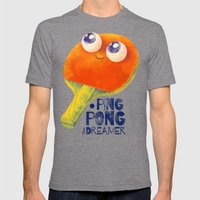 Ping-pong Dreamer Mens Fitted Tee Tri-Grey SMALL