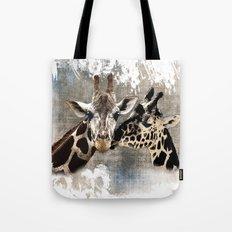 Snuggle Bug Giraffes Tote Bag
