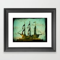 The Copper Ship Framed Art Print
