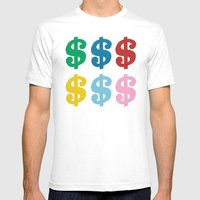 Colourful Money Mens Fitted Tee White SMALL