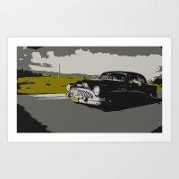 cuban car Art Print