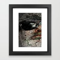 Old man and gray, but another 20 years until the last day. Framed Art Print