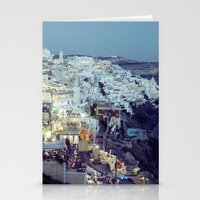 Fira at Dusk II Stationery Cards