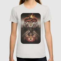 Pyropriest Womens Fitted Tee Silver SMALL