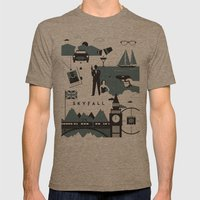 Skyfall Mens Fitted Tee Tri-Coffee SMALL