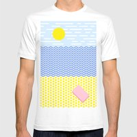 The beach Mens Fitted Tee White SMALL