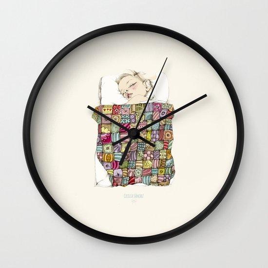 sleeping child Wall Clock