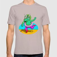 Sugarplum Triceratops Mens Fitted Tee Cinder SMALL