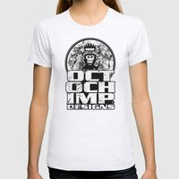 Octochimp Designs Womens Fitted Tee Ash Grey SMALL
