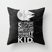 Star Wars - What a piece of Junk! Throw Pillow