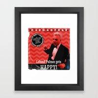 Leland Palmer Gets Happy… Framed Art Print