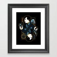 The Detective of 221B Framed Art Print