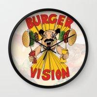 Burger Vision Wall Clock