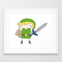 Link - Wind Waker Framed Art Print