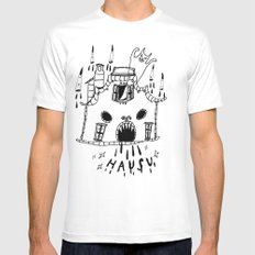 hausu White Mens Fitted Tee SMALL