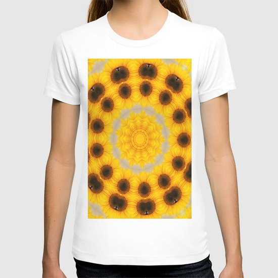 Sunflower and Bee Abstract T-shirt