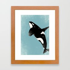 Killer Whale art Framed Art Print