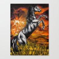 It's always sunny in philadelphia, charlie kelly horse shirt, black stallion Canvas Print