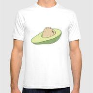 Man Of Avocado Mens Fitted Tee White SMALL