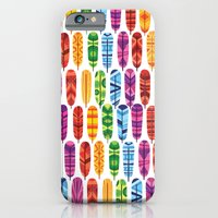 feathers iPhone & iPod Cases featuring Feathers by Wharton