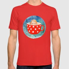 hide and seek Mens Fitted Tee Red SMALL