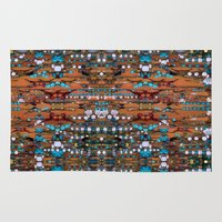 Abstract Indian Boho Rug