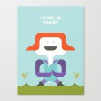 I Come In Peace Canvas Print