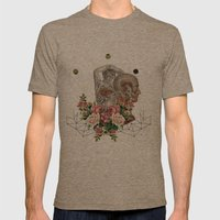 SUMMER IN YOUR SKIN  Mens Fitted Tee Tri-Coffee SMALL