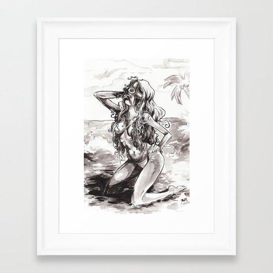 Starro by the sea Framed Art Print