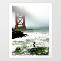 Surfing SF Bay Art Print