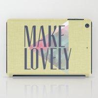 Make Lovely // Leaf iPad Case