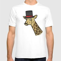 Like A Siraffe Mens Fitted Tee White SMALL