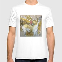 Amazon Mens Fitted Tee White SMALL