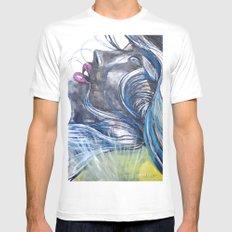 Emo Girl SMALL Mens Fitted Tee White